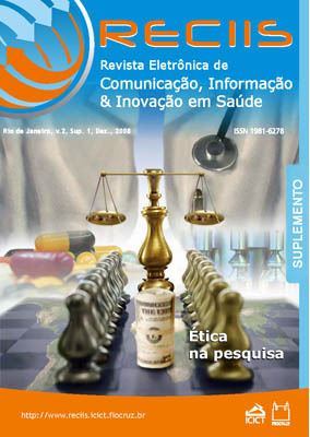 Visualizar v. 2 (2008): Suplemento (2008)   Ética em Pesquisa